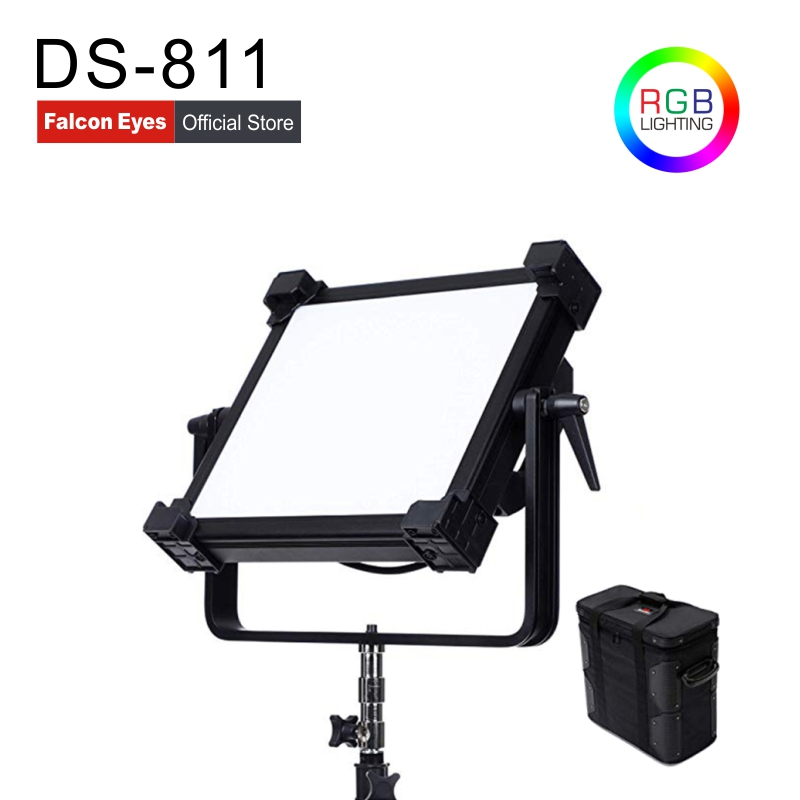 Falcon Eyes 384pcs 23W 3200//5600K LED Panel Fill Light Dimmable for Photography Video Film Interview Shooting DV-384V